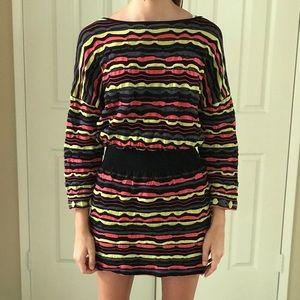 M Missoni stretch multicolor mini dress